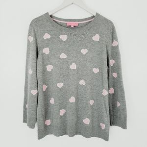 Talbots Heart and Heather Gray Super Soft Sweater